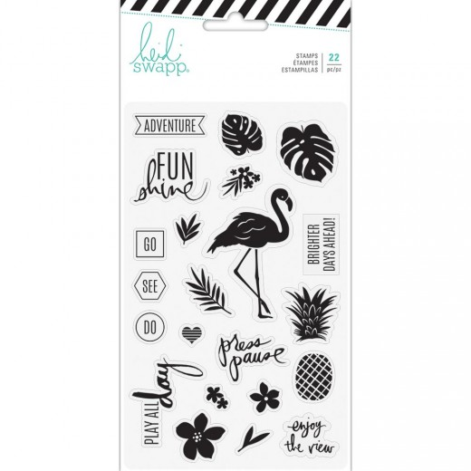 Набор штампов Heidi Swapp Pineapple Crush Clear Stamps Words & Icons