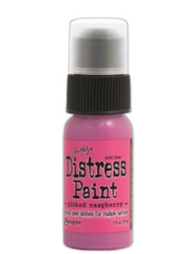 Краска Tim Holtz Distress Paint 30 мл Picked Raspberry (TDD - 36418)