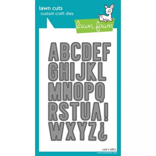 фото Набор лезвий Lawn Fawn Cole's ABCs Cuts Custom Craft Die