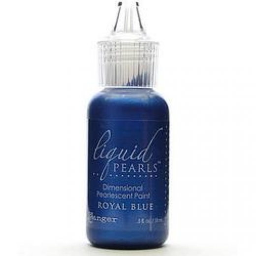 Жидкий жемчуг Ranger - Liquid Pearls Glue .5oz Bottle - Royal Blue (789541033974)