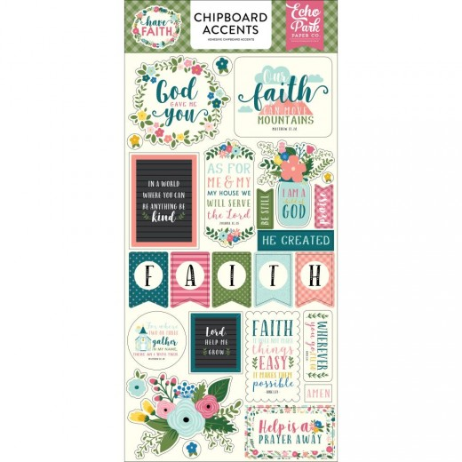 Чипборд Have Faith Chipboard, Accents