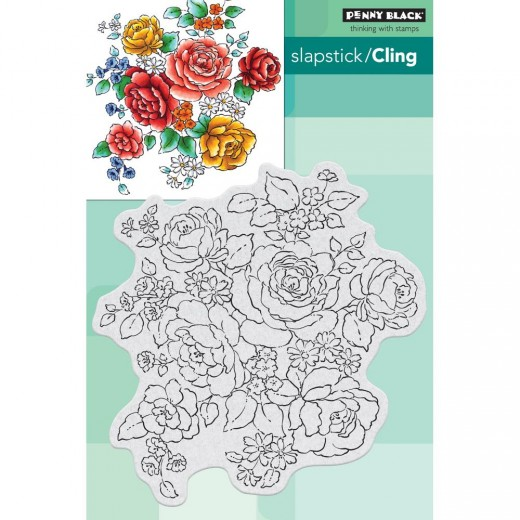 Штамп Penny Black Cling Stamps Floral Medley