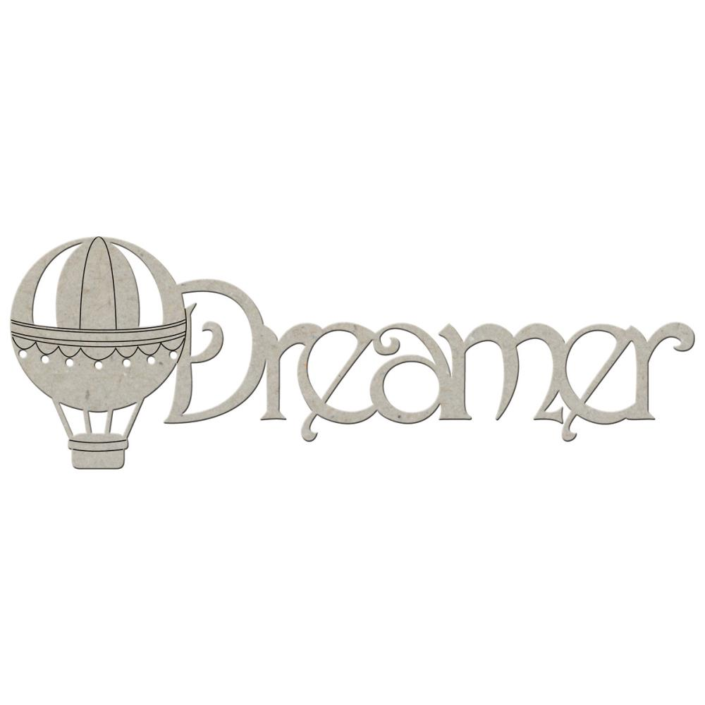 Чипборд FabScraps Die Cut Chipboard Words Dreamer (DC49019)