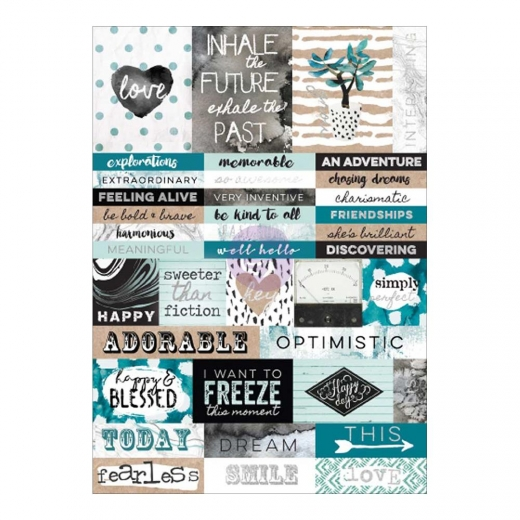 Набор наклеек Zella Teal Stickers - Words