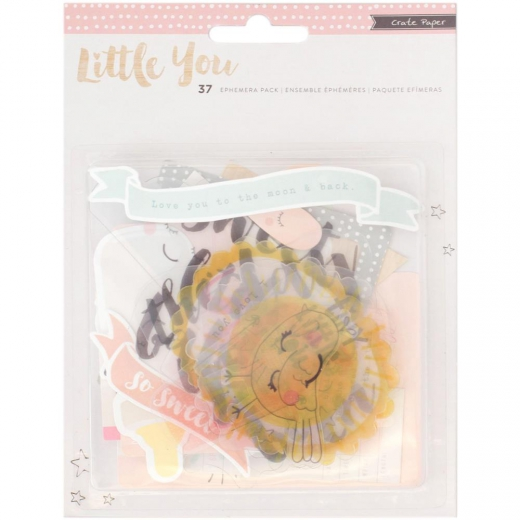 Высечки Crate Paper Little You Acrylic & Cardstock Girl 37 шт (854196803910)