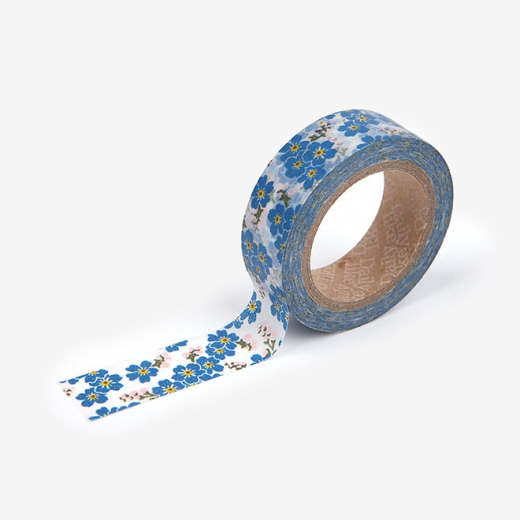 Бумажный скотч Dailylike washi tape - FORGET ME NOT