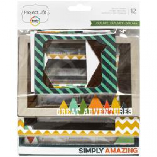 Чипборд Project Life Фоторамки Die-Cut Chipboard Photo Frames 12 шт (718813806183)