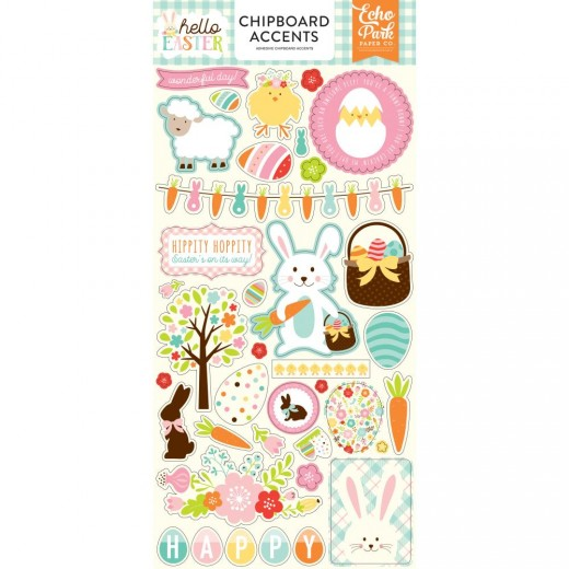 Чипборд Hello Easter Chipboard, Accents