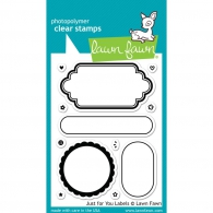 Набор штампов Lawn Fawn Clear Stamps Just For You Labels (35127963303)