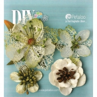 Цветы декоративные Petaloo Paintables Textured Blossoms Ivory 4 шт (751096840543)