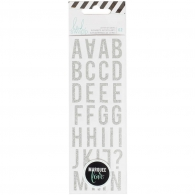 Самоклеющиеся стикеры от Heidi Swapp Lightbox Alphabet Stickers - Mini Silver Glitter