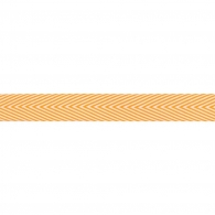 Лента May Arts Twill Chevron Stripe Ribbon - Orange
