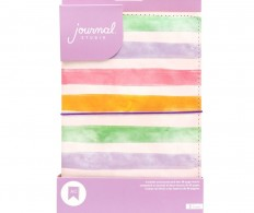 Блокнот-тревелбук American Crafts Journal Studio Kit - Watercolor Stripe