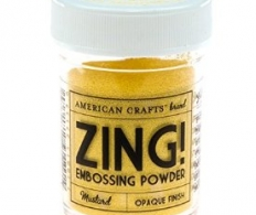 Пудра для эмбосинга American Crafts Zing Opaque Embossing Mustard (718813271370)