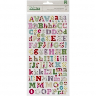 Чиборд от Crate Paper - On Trend Thickers Alphabet - Eric/Multi Print