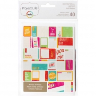 Набор карточек Project Life Themed Cards 40 шт Inspirational (97720)