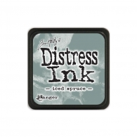 Подушечка с чернилами Ranger Tim Holtz Distress Mini Ink Pad 3х3 см Iced Spruce (789541040019)