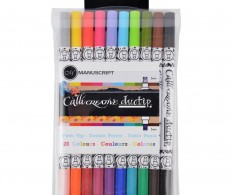 Маркеры для каллиграфии Manuscript CalliCreative Duo Tip Twin Color Pens 10шт