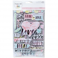 Чипборд Project Life Chipboard Stickers Inspire Edition (718813803946)