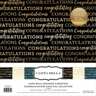 Набор картона Carta Bella Collection Kit 30х30см Congrats W/Gold Foil