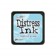 Подушечка с чернилами Ranger Tim Holtz Distress Mini Ink Pad 3х3 см Tumbled Glass (789541040248)