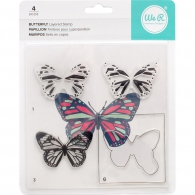 Набор штампов от We R Memory Keepers - Layered Stamp - Butterfly (633356630913)