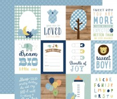 фото Лист скрапбумаги Baby Boy Double-Sided Cardstock 30х30см Journaling Cards