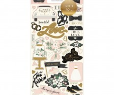 Чипборд Wedding Day Chipboard Accents