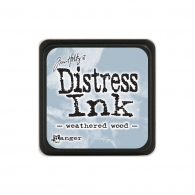 Подушечка с чернилами Ranger Tim Holtz Distress Mini Ink Pad 3х3 см Weathered Wood (789541040286)