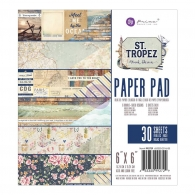 Набор бумаги 15х15см Prima Marketing Double-Sided Paper Pad - St. Tropez