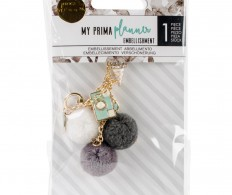 фото Брелок для ежедневников My Prima Planner Pom Pom Key Chain Adornment Snow & Mint