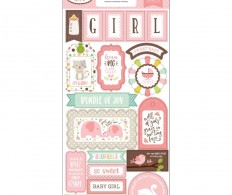 Чипборд Sweet Baby Girl Chipboard, Phrases