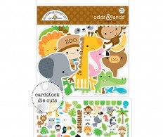 фото Высечки Doodlebug Odds & Ends Die-Cuts At The Zoo, 73 шт