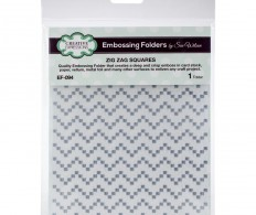 Папка для тиснения Creative Expressions Embossing Folder By Sue Wilson Zig Zag Squares
