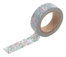 Бумажный скотч Dailylike washi tape - A tiny flower : fade