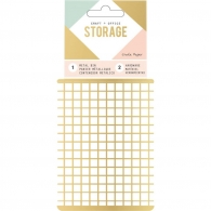 Органайзер Wire System Metal Storage Bin Small Gold