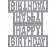 Нож для вырубки Spellbinders Shapeabilities Dies - Happy Birthday Pop Up