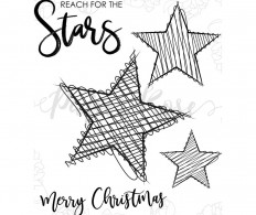 фото Набор штампов Paper Rose Clear Stamps - Scribble Stars
