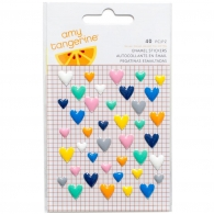 Эмалевые украшения American Crafts Amy Tan Finders Keepers Enamel Hearts 40 шт (718813402361)