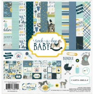 Набор бумаги от Carta Bella Collection Kit 30х30см - Rock-A-Bye Baby Boy