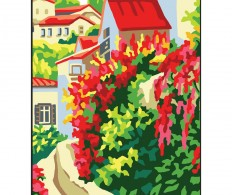 Канва ( страмин ) с рисунком - Collection D'Art Needlepoint Printed Tapestry - Red Roofs