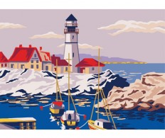 Канва ( страмин ) с рисунком - Collection D'Art Needlepoint Printed Tapestry - Lighthouse