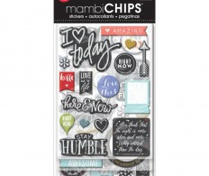 Чипборд Me & My Big Ideas Chipboard Value Pack Chalk-Colored Amazing