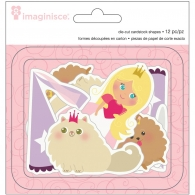 фото Высечки Imaginisce Blond Hair-Little Prncss Diecut 12 шт (843374006328)