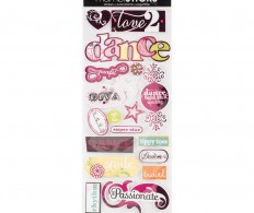 картинка Чипборд Me & My Big Ideas Designer Chipboard Stickers Dance - Foil