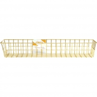 Органайзер от Crate Paper - Wire System Metal Storage Bin - Medium Gold