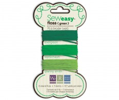 Декоративный шнурок Sew Easy Solid 6-Strand Floss 8.7yd 3/Pkg Green