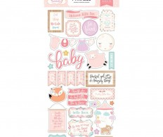 фото Чипборд Hello Baby Girl Chipboard - Phrases
