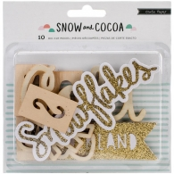 Набор высечек от Crate Paper - Snow & Cocoa Wood Die-Cuts