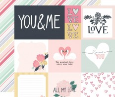Лист скрапбумаги You & Me - Multi Journaling Cards
